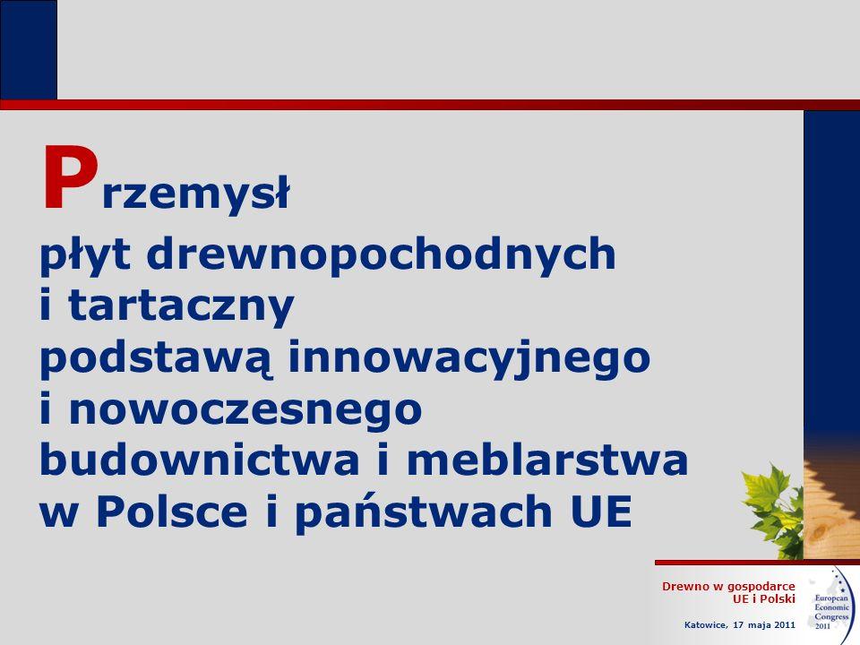 Przemysł płyt drewnopochodnych i tartaczny podstawą innowacyjnego i nowoczesnego budownictwa i meblarstwa w Polsce i państwach UE