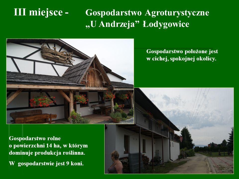 III miejsce - Gospodarstwo Agroturystyczne