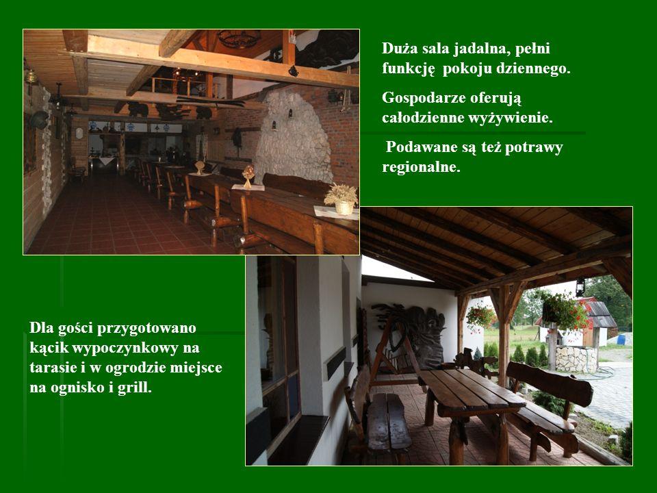 Duża sala jadalna, pełni funkcję pokoju dziennego.