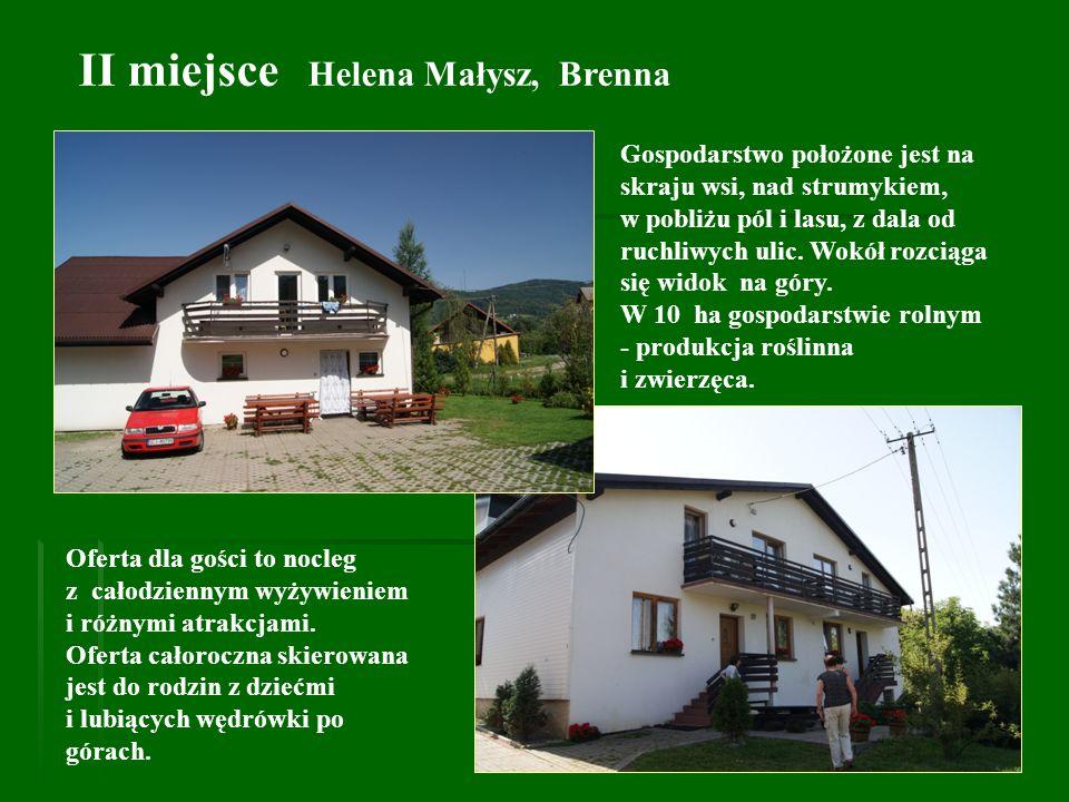 II miejsce Helena Małysz, Brenna
