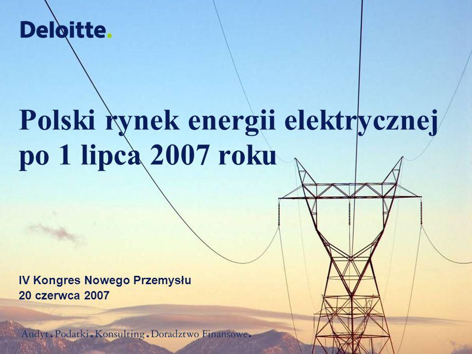 Polski rynek energii elektrycznej po 1 lipca 2007 roku