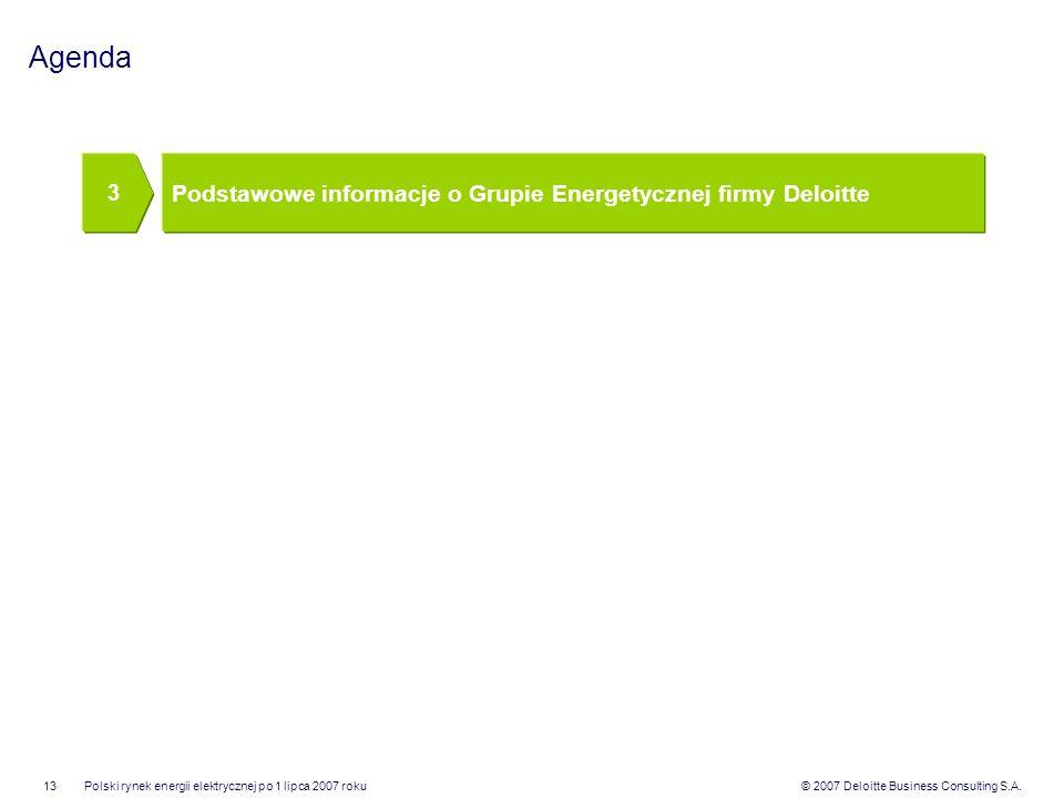 Agenda Podstawowe informacje o Grupie Energetycznej firmy Deloitte 3