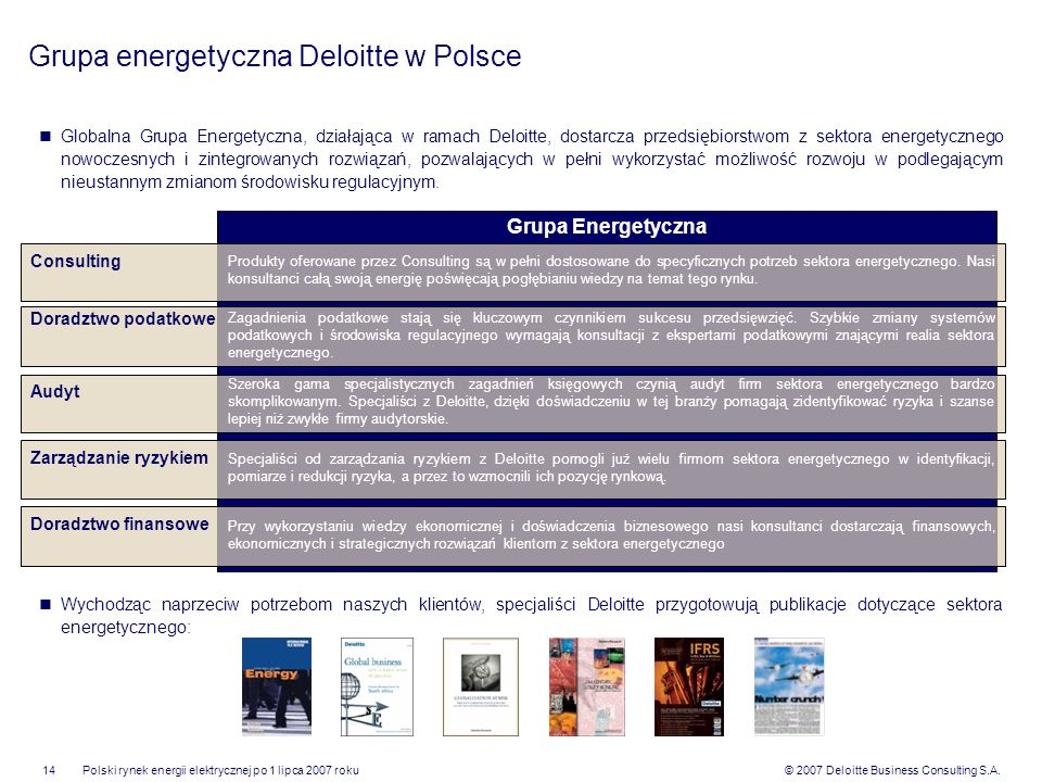 Grupa energetyczna Deloitte w Polsce