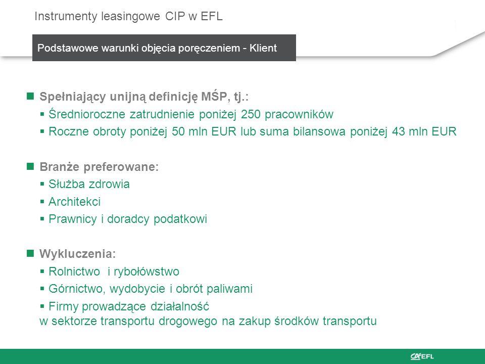 Instrumenty leasingowe CIP w EFL