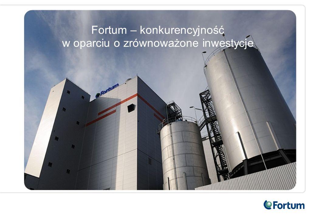 Fortum – konkurencyjność w oparciu o zrównoważone inwestycje