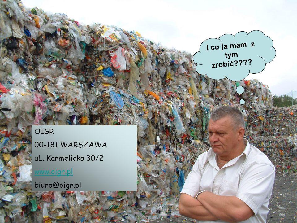 I co ja mam z tym zrobić OIGR 00-181 WARSZAWA uL. Karmelicka 30/2 www.oigr.pl biuro@oigr.pl