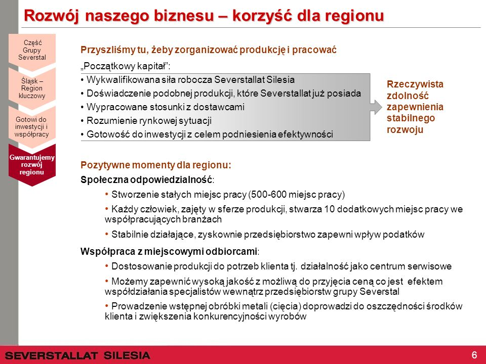 Rozwój naszego biznesu – korzyść dla regionu