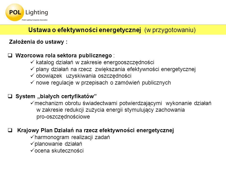 Ustawa o efektywności energetycznej (w przygotowaniu)