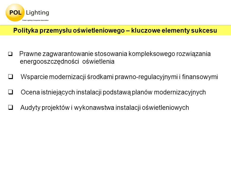 Polityka przemysłu oświetleniowego – kluczowe elementy sukcesu
