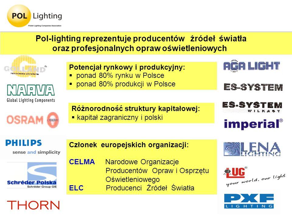 oraz profesjonalnych opraw oświetleniowych
