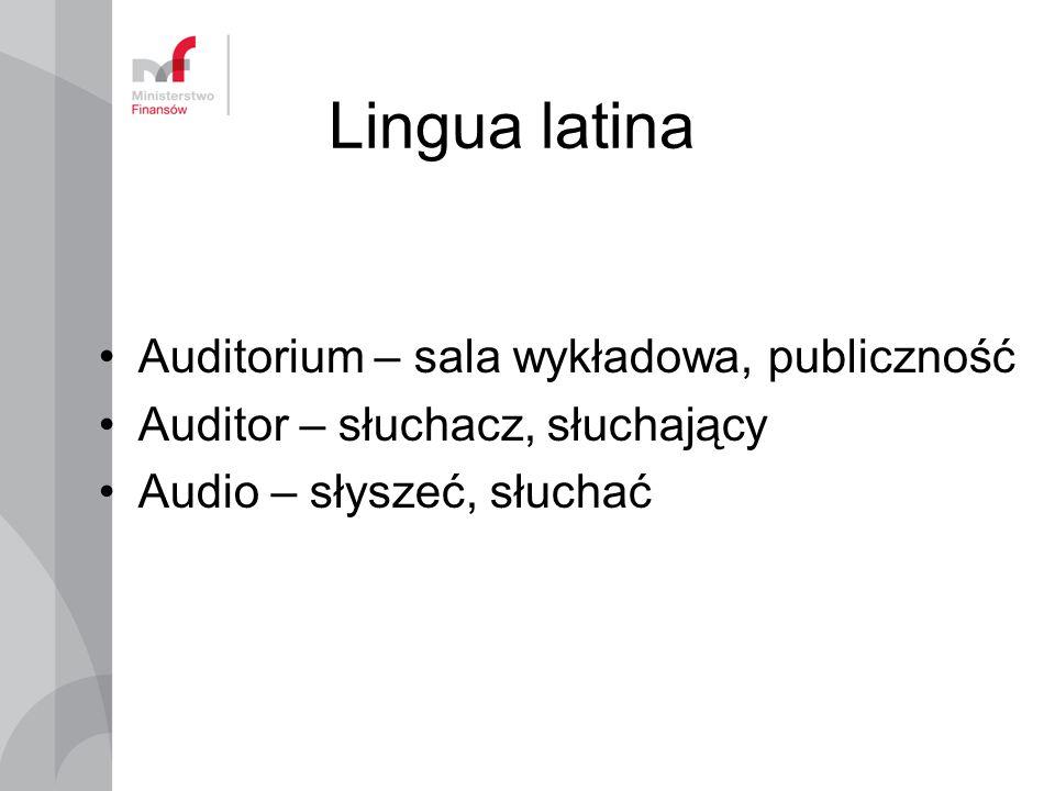 Lingua latina Auditorium – sala wykładowa, publiczność