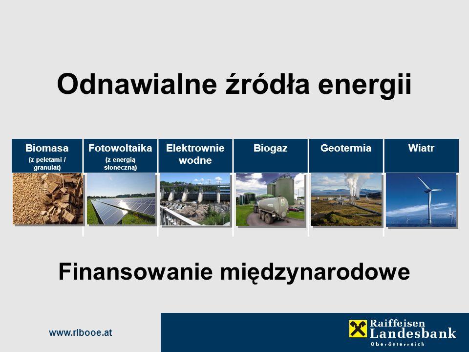 Odnawialne źródła energii Finansowanie międzynarodowe