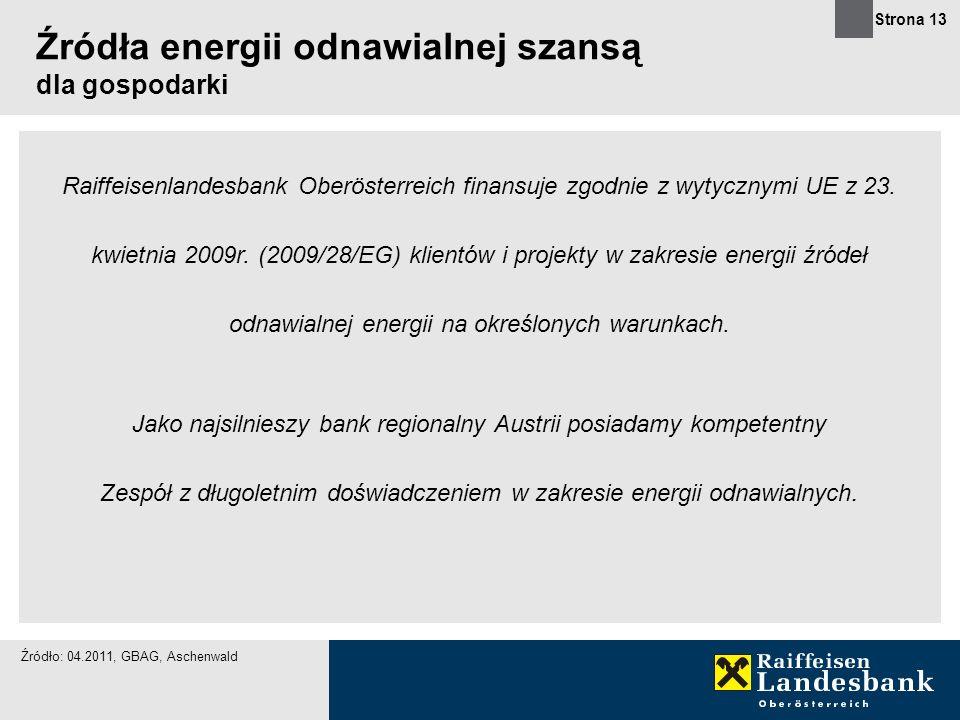 Źródła energii odnawialnej szansą dla gospodarki