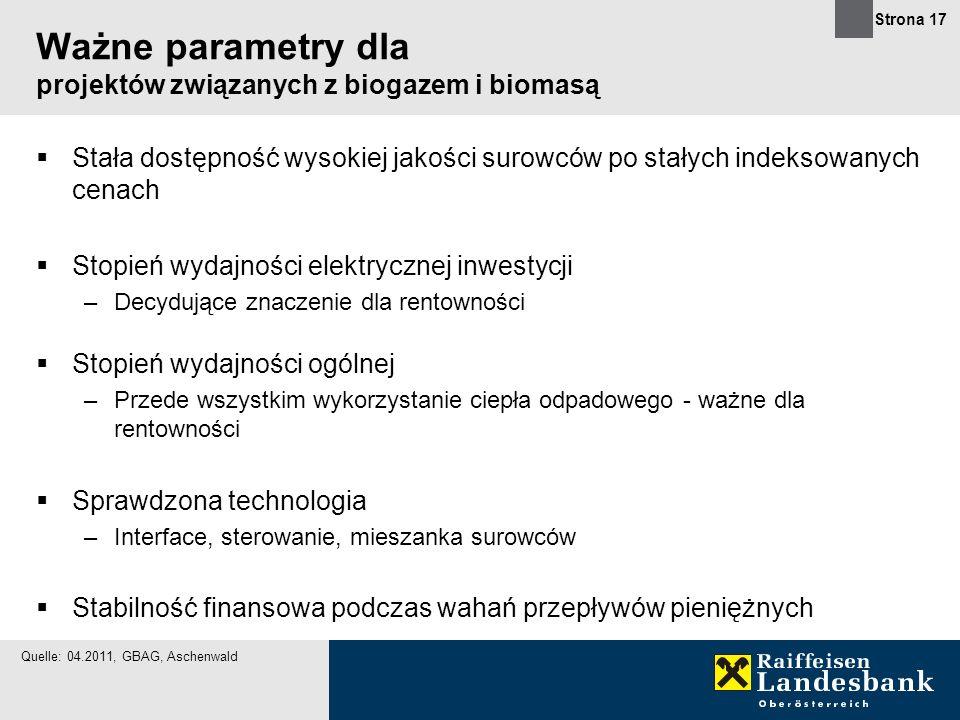 Ważne parametry dla projektów związanych z biogazem i biomasą