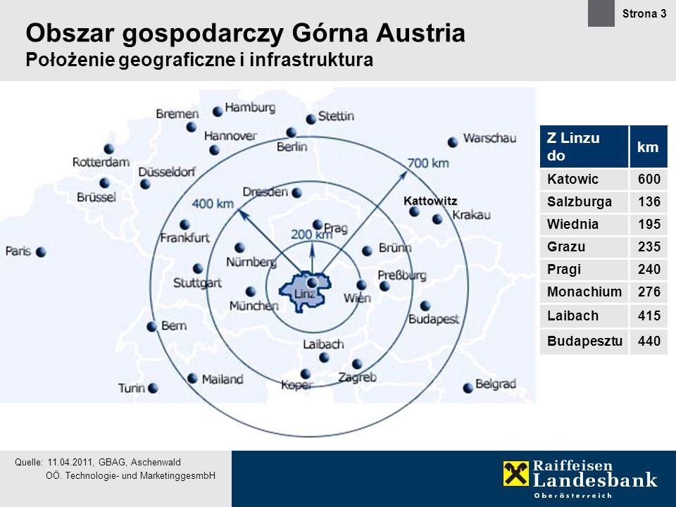 Obszar gospodarczy Górna Austria Położenie geograficzne i infrastruktura