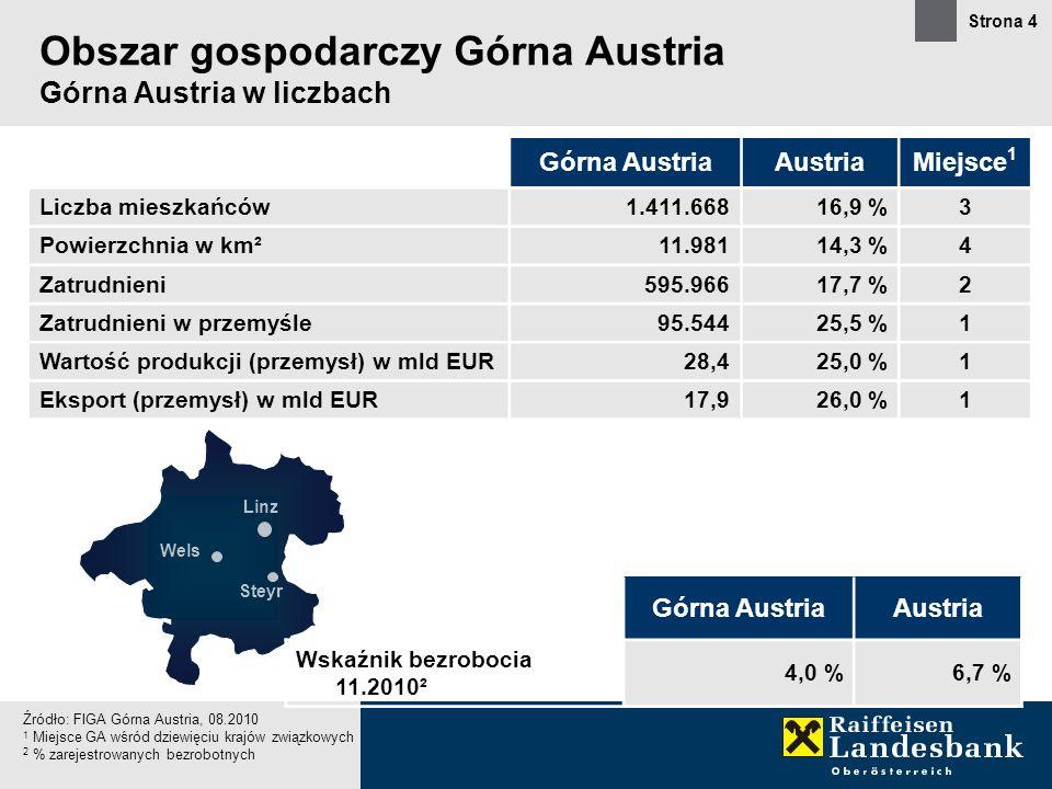 Obszar gospodarczy Górna Austria Górna Austria w liczbach