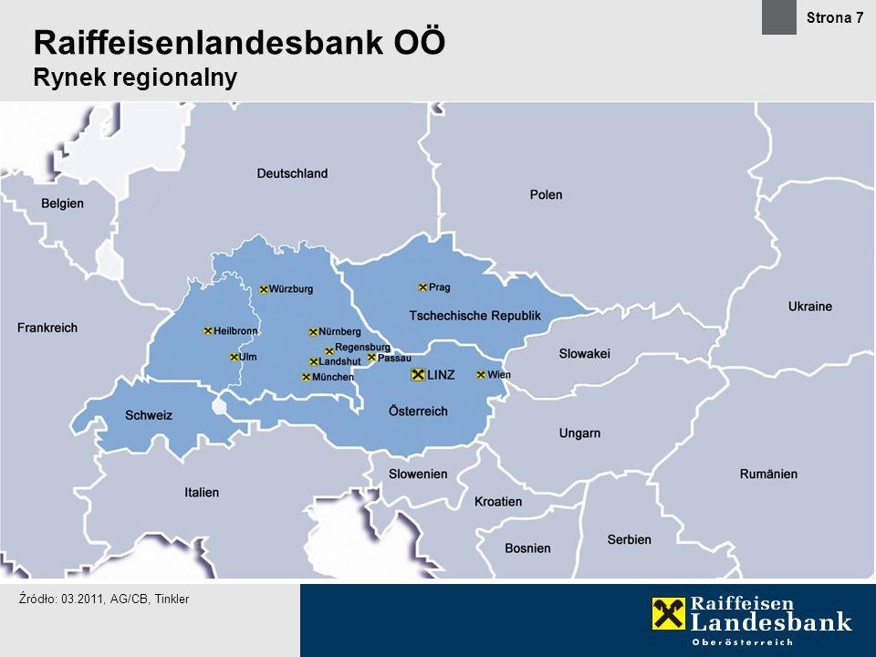 Raiffeisenlandesbank OÖ Rynek regionalny