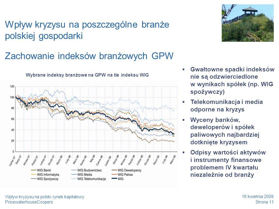 Wpływ kryzysu na poszczególne branże polskiej gospodarki