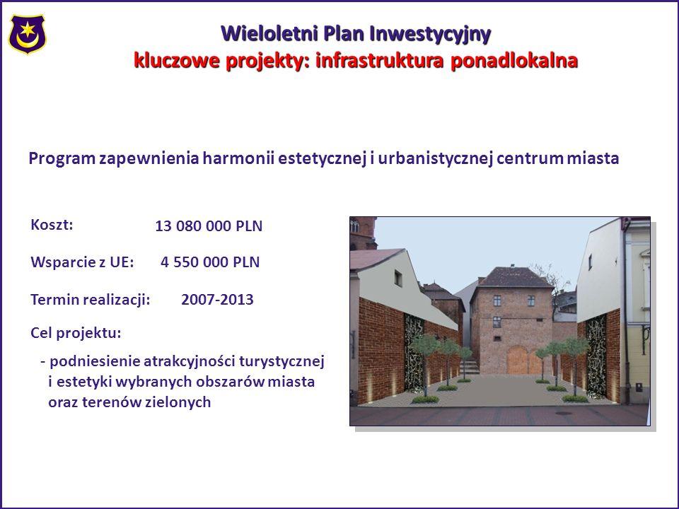Wieloletni Plan Inwestycyjny kluczowe projekty: infrastruktura ponadlokalna