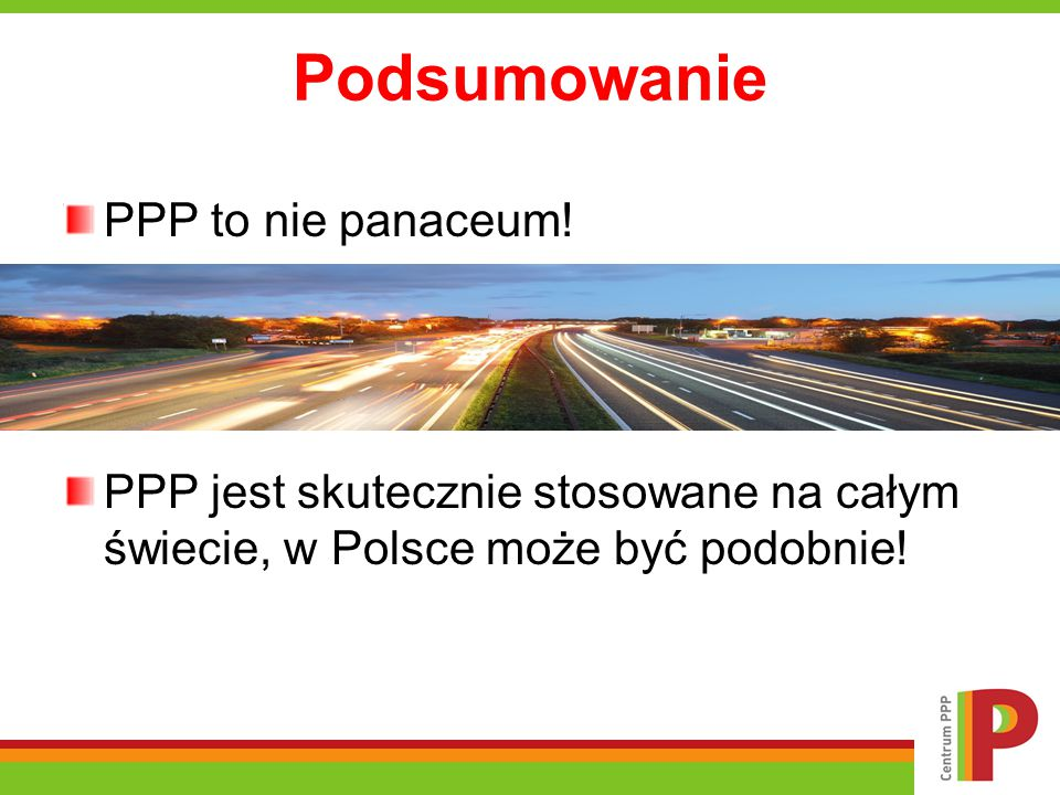 Podsumowanie PPP to nie panaceum!