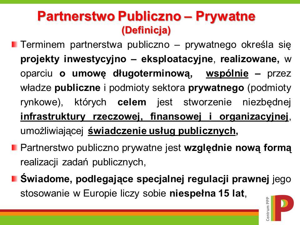 Partnerstwo Publiczno – Prywatne (Definicja)