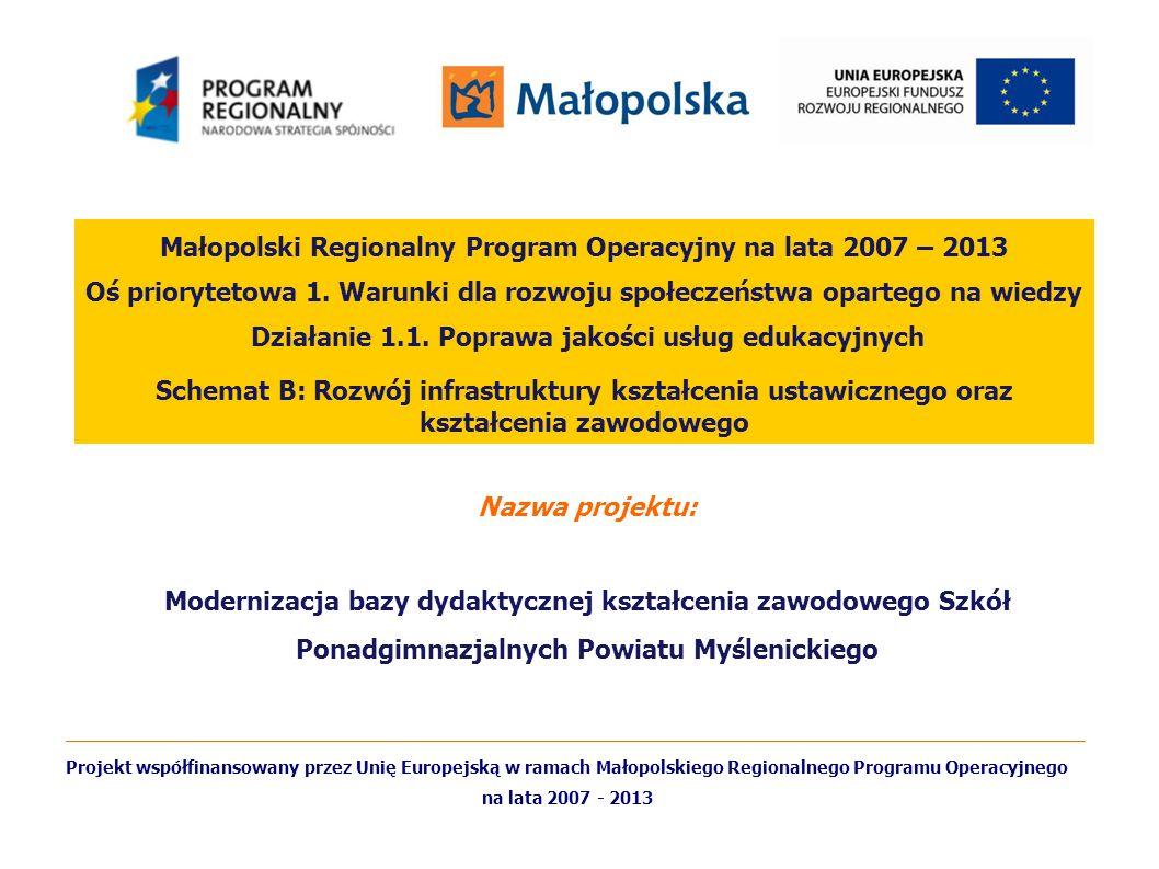 Małopolski Regionalny Program Operacyjny na lata 2007 – 2013