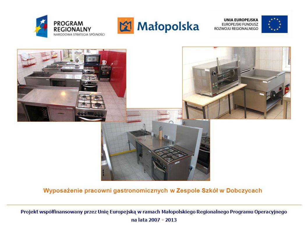 Wyposażenie pracowni gastronomicznych w Zespole Szkół w Dobczycach