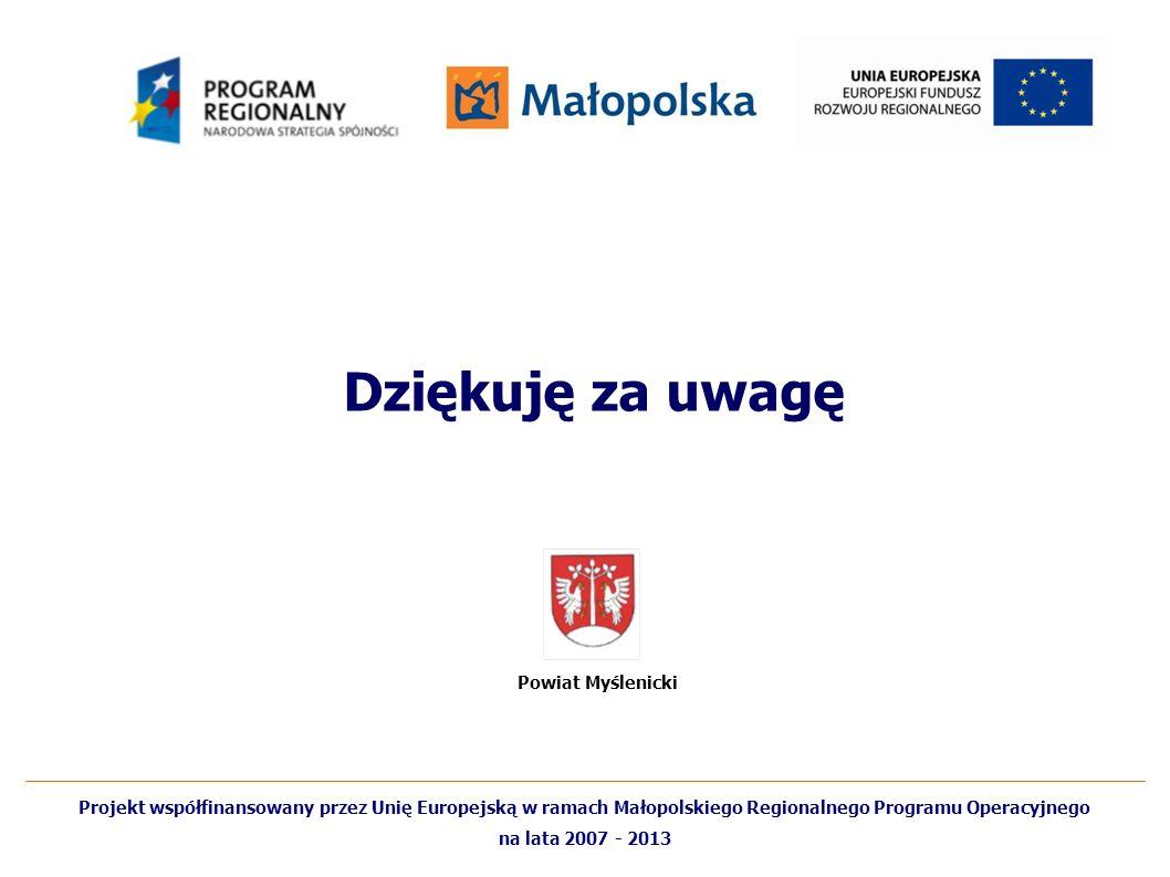 Dziękuję za uwagę Powiat Myślenicki