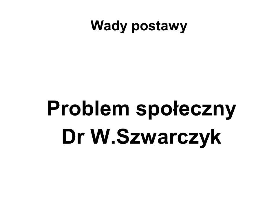 Problem społeczny Dr W.Szwarczyk