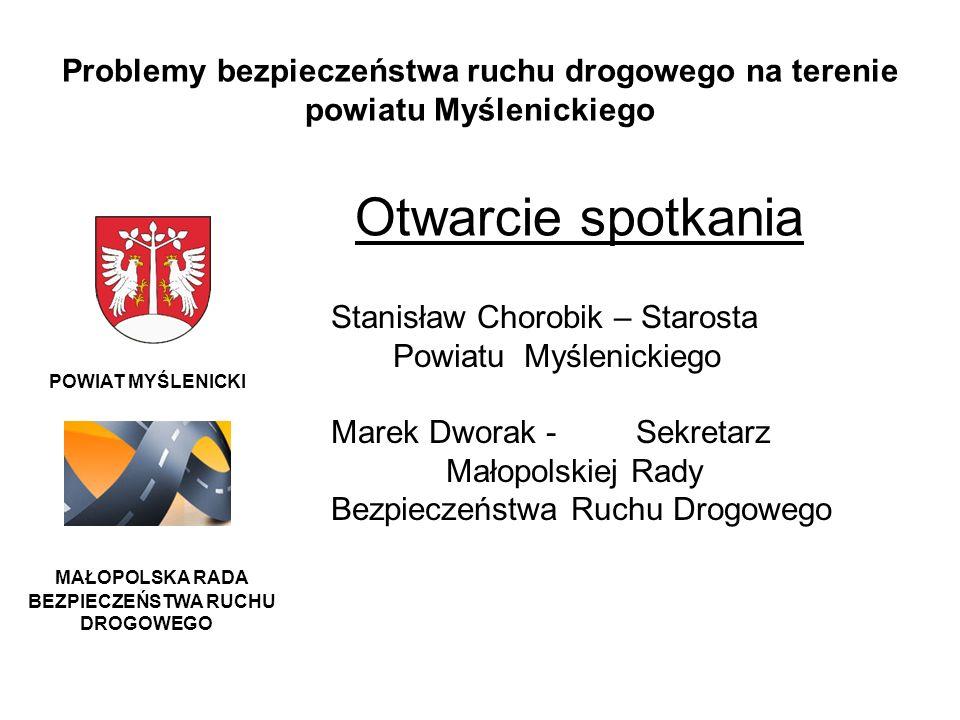 Problemy bezpieczeństwa ruchu drogowego na terenie powiatu Myślenickiego