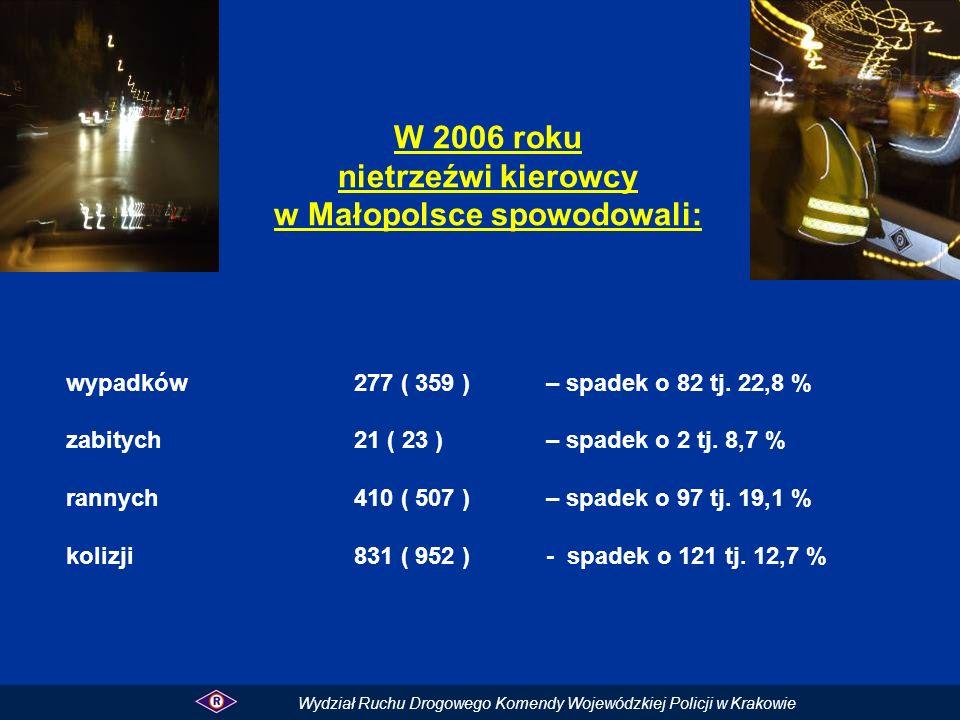 w Małopolsce spowodowali: