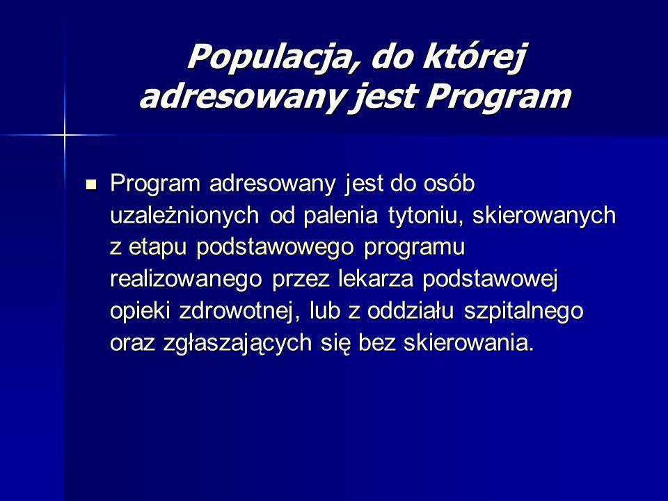 Populacja, do której adresowany jest Program