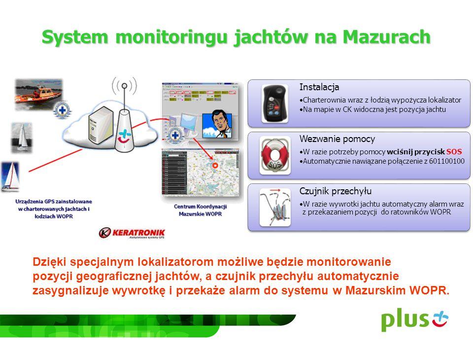 System monitoringu jachtów na Mazurach