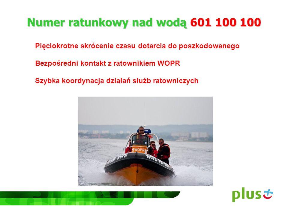 Numer ratunkowy nad wodą 601 100 100