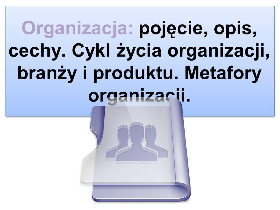 Organizacja: pojęcie, opis, cechy