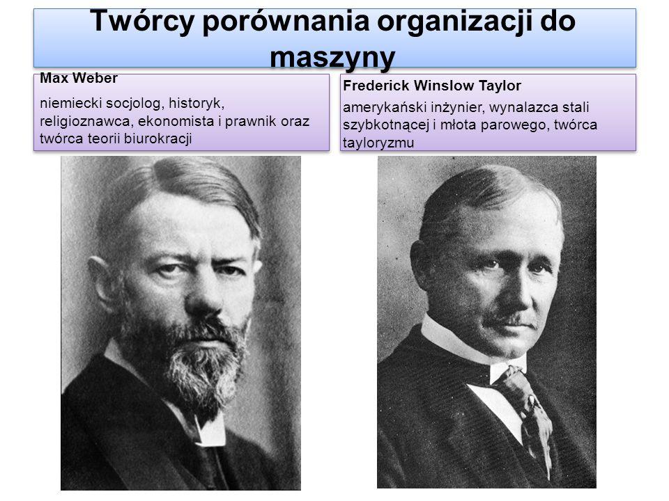 Twórcy porównania organizacji do maszyny