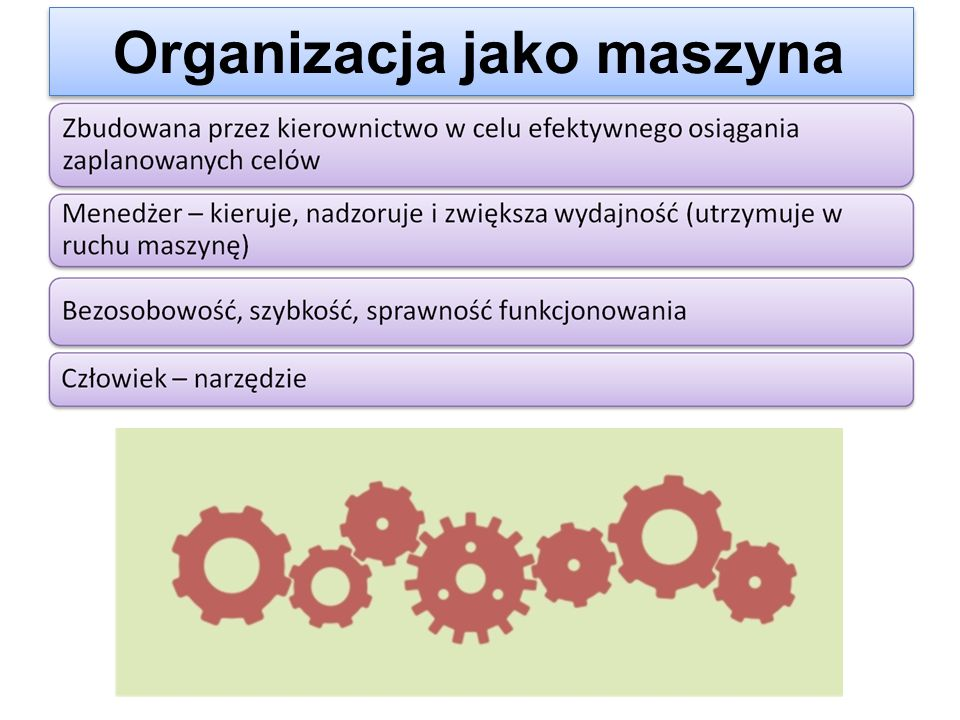 Organizacja jako maszyna