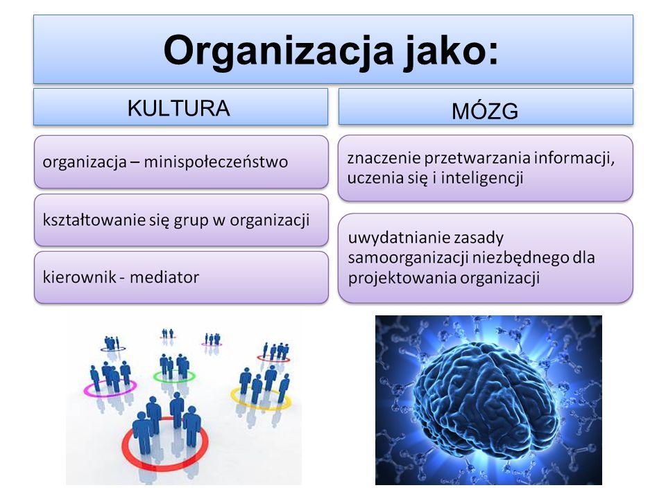 Organizacja jako: KULTURA MÓZG