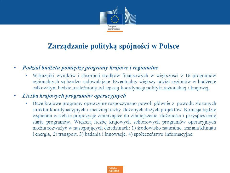 Zarządzanie polityką spójności w Polsce