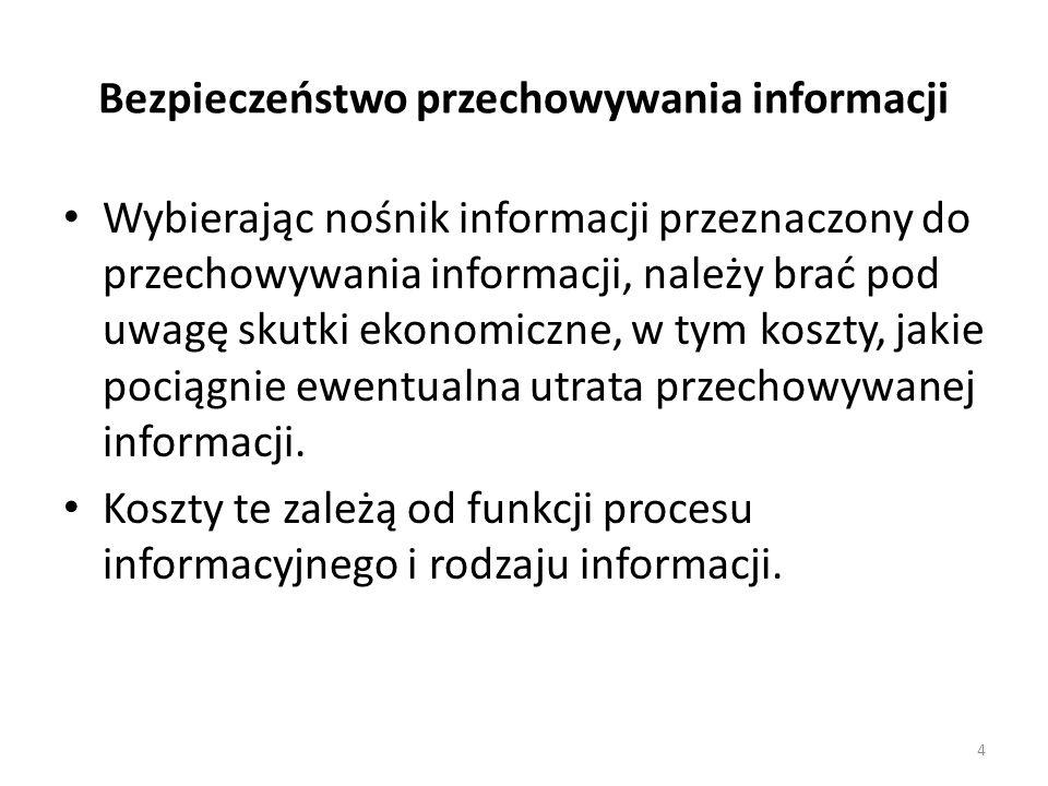 Bezpieczeństwo przechowywania informacji