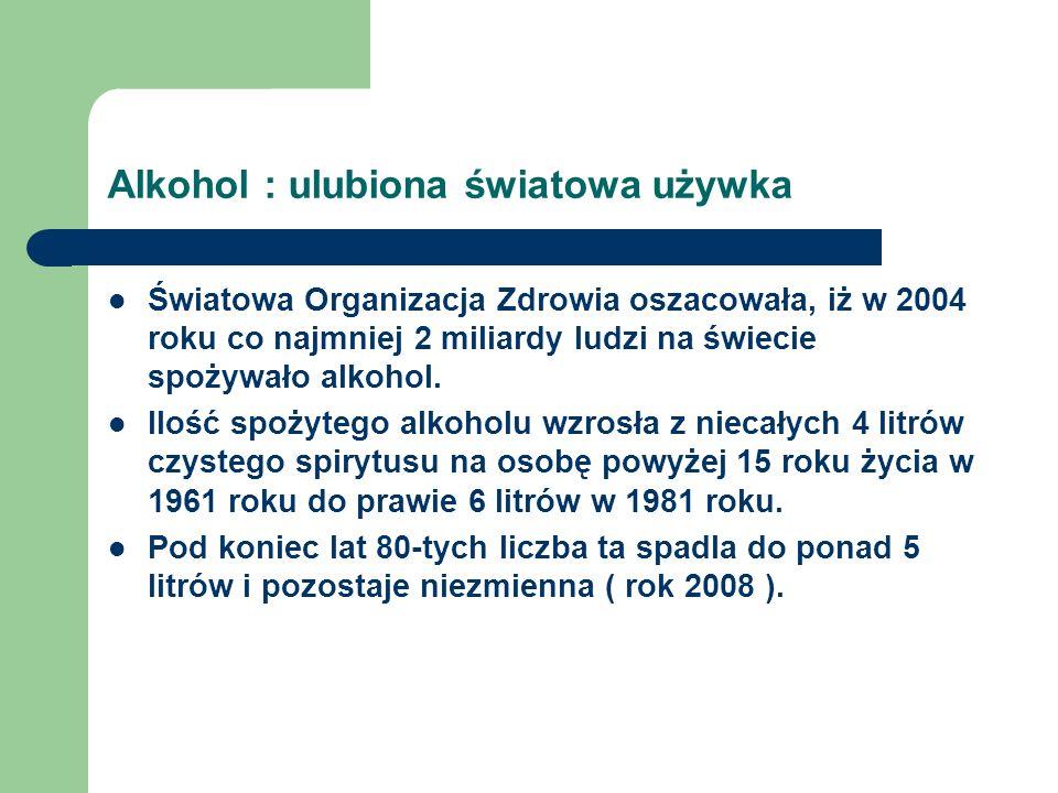 Alkohol : ulubiona światowa używka