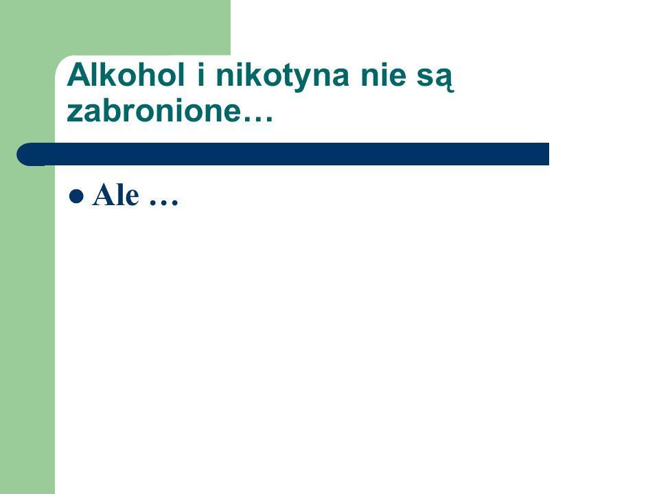 Alkohol i nikotyna nie są zabronione…