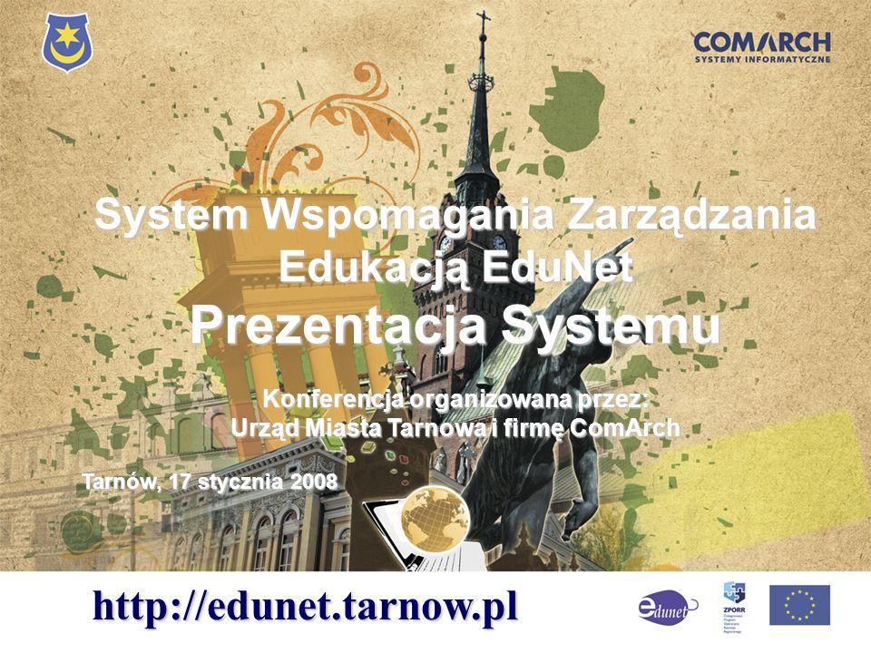 Prezentacja Systemu System Wspomagania Zarządzania Edukacją EduNet