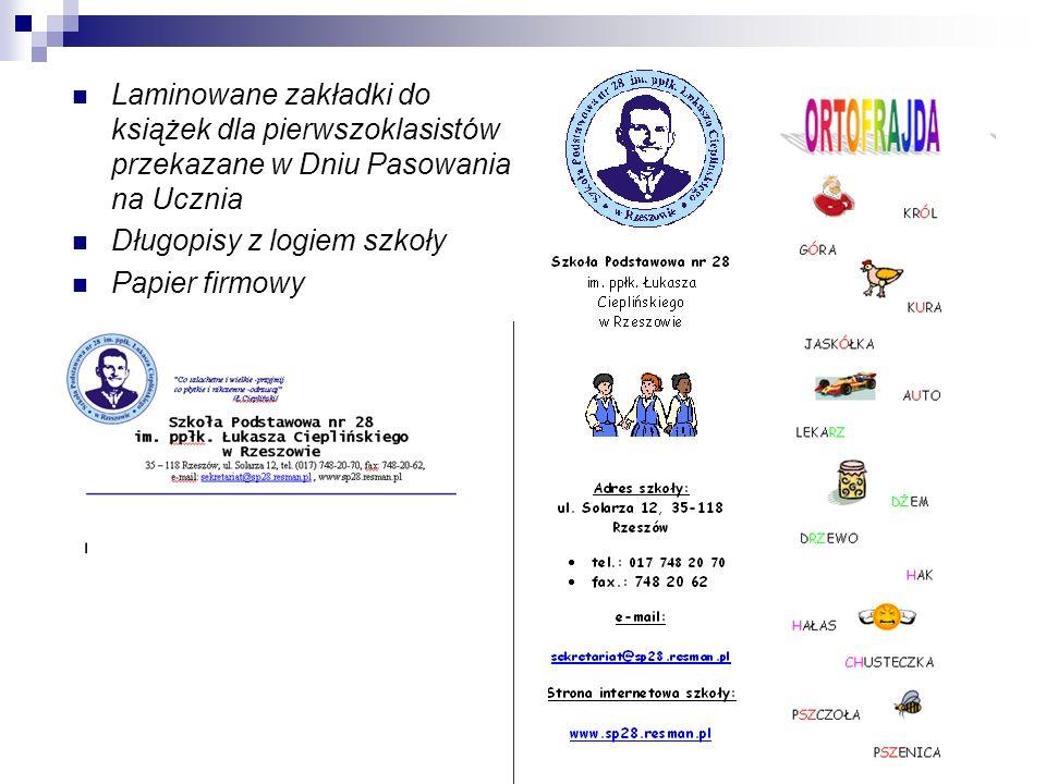 Laminowane zakładki do książek dla pierwszoklasistów przekazane w Dniu Pasowania na Ucznia