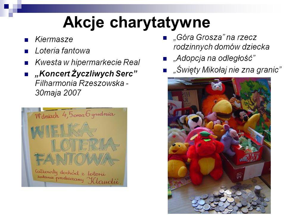 """Akcje charytatywne """"Góra Grosza na rzecz rodzinnych domów dziecka"""