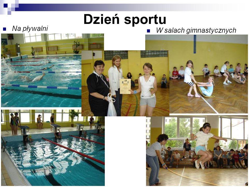 Dzień sportu Na pływalni W salach gimnastycznych