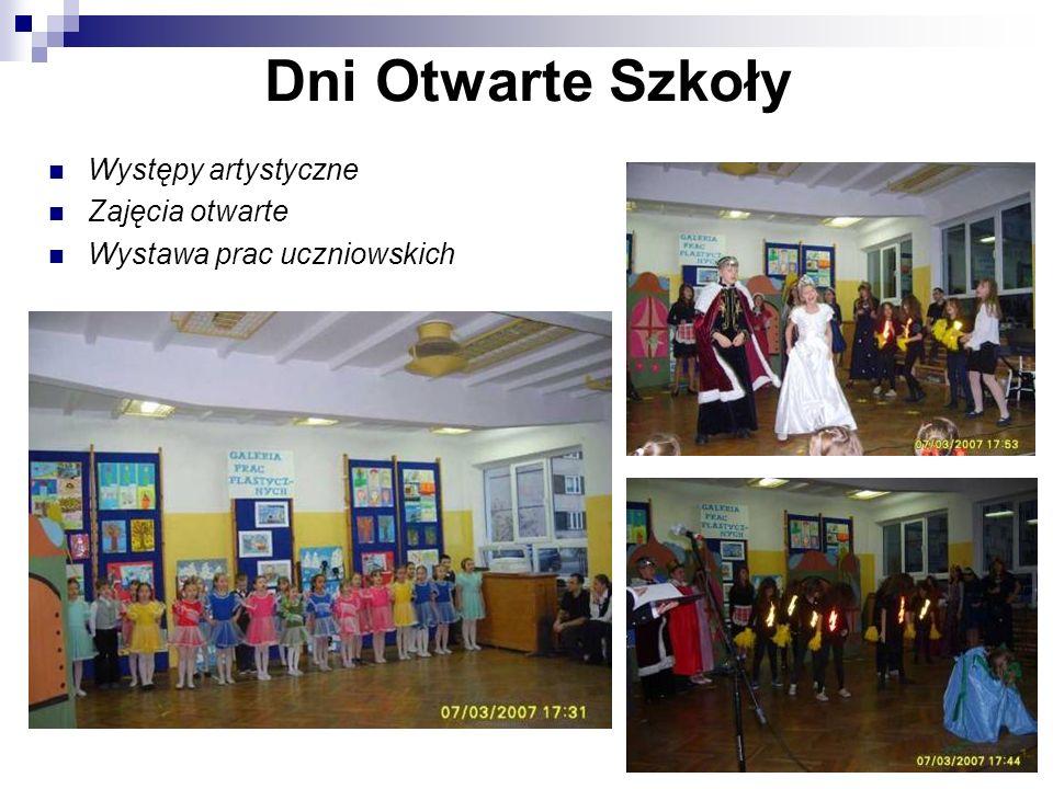 Dni Otwarte Szkoły Występy artystyczne Zajęcia otwarte