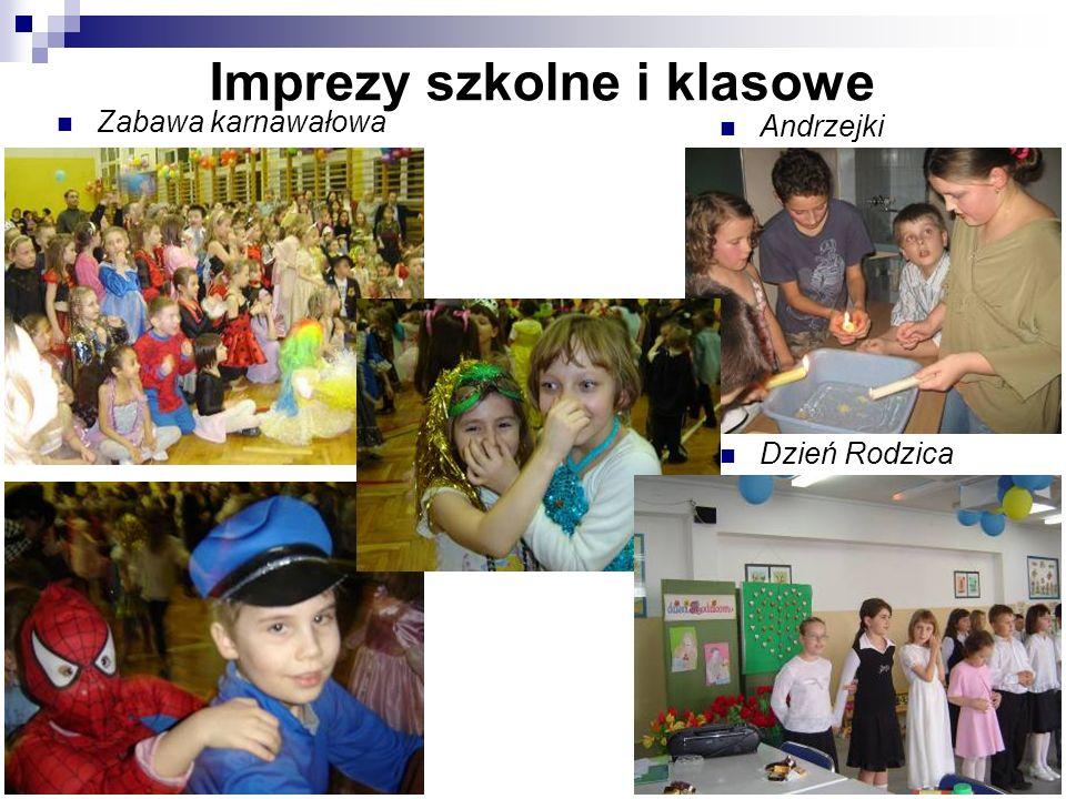 Imprezy szkolne i klasowe