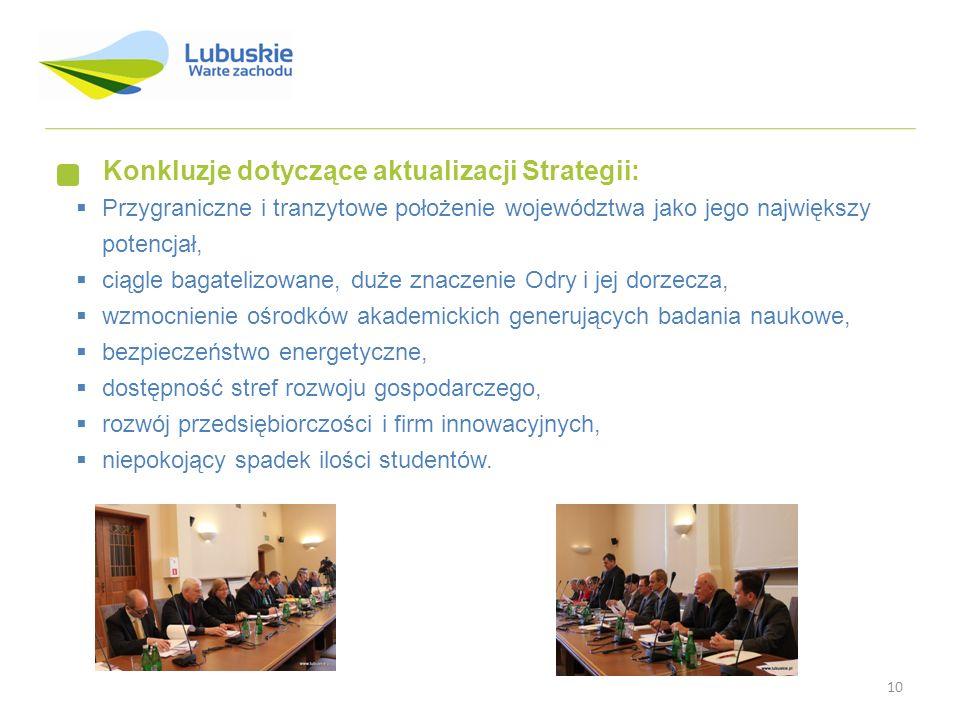 Konkluzje dotyczące aktualizacji Strategii: