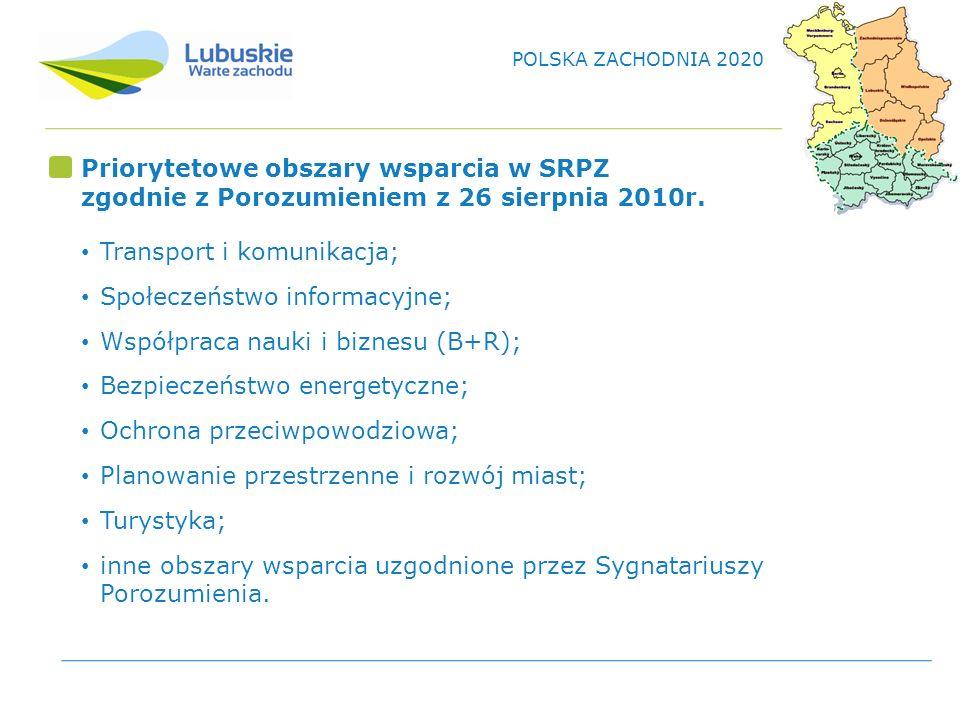 Priorytetowe obszary wsparcia w SRPZ